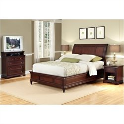 Home Styles Lafayette 3 Piece Sleigh Bed Set - Queen