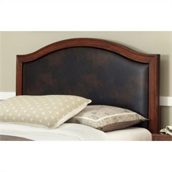 Home Styles Duet Camelback Panel Headboard with Brown