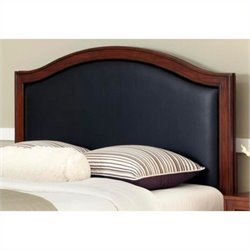 Home Styles Duet Camelback Panal Headboard in Black - Queen - Full
