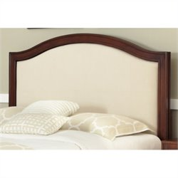 Home Styles Duet Camelback Panel Headboard in Ivory - Queen - Full