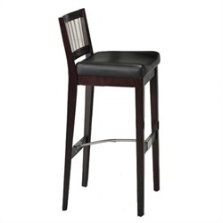 Home Styles Furniture Bar Stool with Metal Stretcher in Cherry