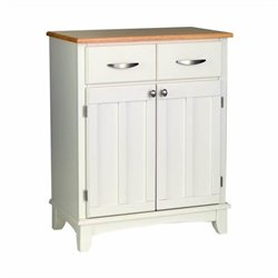 Furniture Wood Top Buffet in White