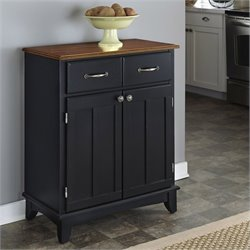 Home Styles Furniture Buffet Server in Black and Cottage Oak