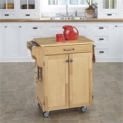 Natural Wood Kitchen Cart