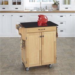 Home Styles Natural Kitchen Cart with Granite Top