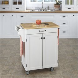 Home Styles White Kitchen Cart
