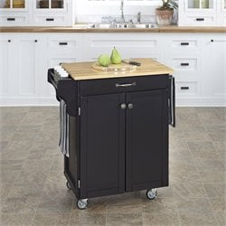 Home Styles Black Kitchen Cart