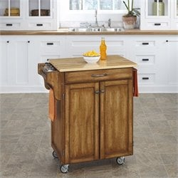 Home Styles Cottage Oak Kitchen Cart