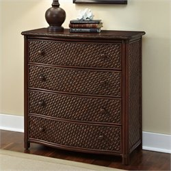 Home Styles Marco Island 4 Drawer Chest in Refined Cinnamon Finish