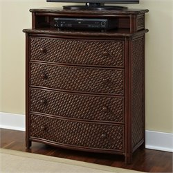 Home Styles Marco Island Media Chest in Refined Cinnamon Finish