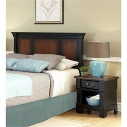 Headboard and Night Stand in Black Cherry