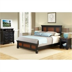Home Styles The Aspen Collection Bedroom Set in Black Cherry - Queen