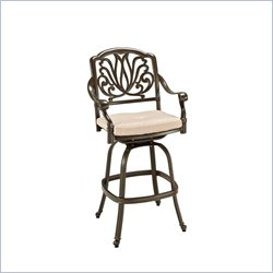 Home Styles Floral Blossom Taupe Swivel Stool