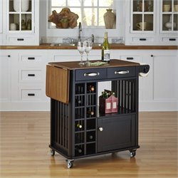 Home Styles Danville Kitchen Cart in Black Finish