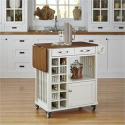 Home Styles Danville Kitchen Cart in White Finish