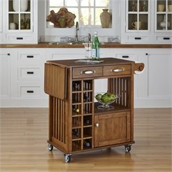 Home Styles Danville Kitchen Cart in Oak Finish