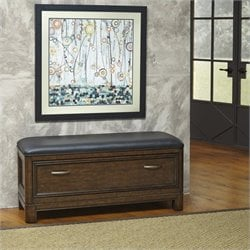 Home Styles Crescent Hill Upholstered Bench