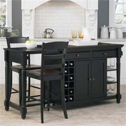 Kitchen Island and Stools 3 Piece Set