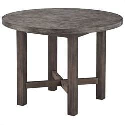Home Styles Concrete Chic Round Dining Table in Brown and Gray