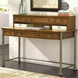 Home Styles Orleans Executive Desk and Hutch in Vintage Caramel