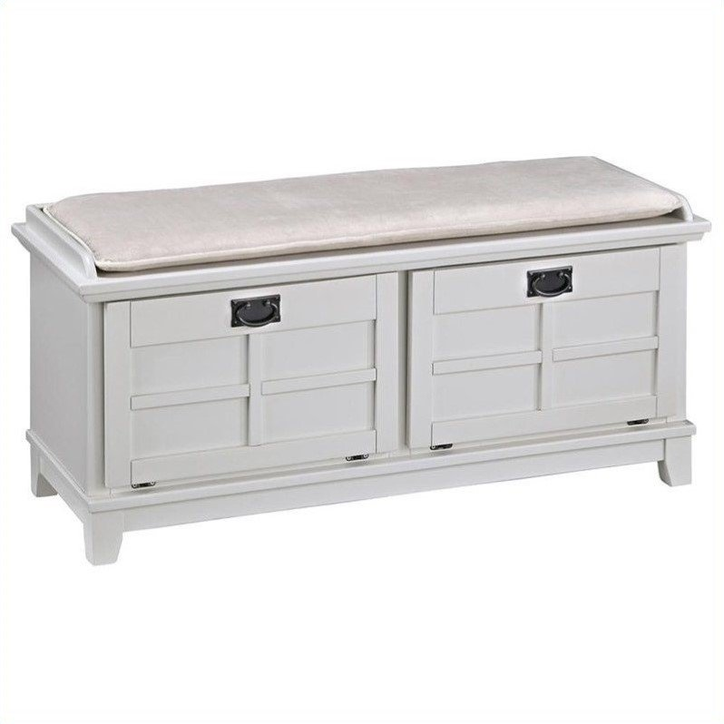 Upholstered bench in white 5182 26 White upholstered bench
