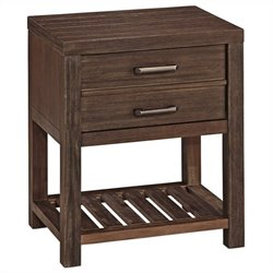 Home Styles Barnside Nightstand in Aged Barnside