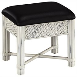 Home Styles Marco Island Vanity Bench in White