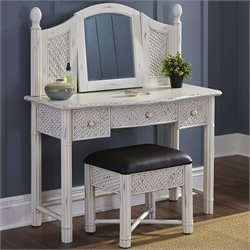 Home Styles Marco Island Vanity and Bench in White