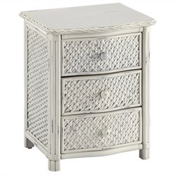 Home Styles Marco Island Nightstand in White