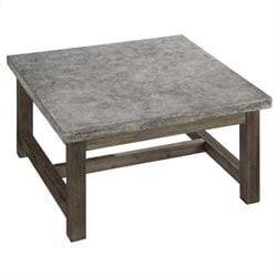 Square Coffee Table in Brown and Gray