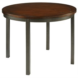 Round Dining Table in Multi-step Chestnut