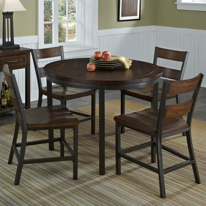 5 Piece Dining Set Table And 4 Chairs Wood Metal Kitchen: 5 Piece Dining Table Chairs Furniture Set Wood Breakfast