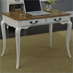 Student Desk in Oak and Rubbed White