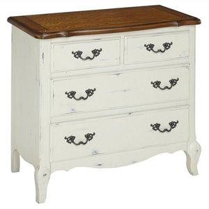 Drawer Chest in Oak and Rubbed White