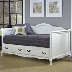Home Styles French Countryside Daybed in Rubbed White