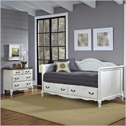 Home Styles French Countryside Daybed and Chest in Oak and Rubbed White