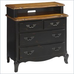 Home Styles French Countryside Media Chest in Oak and Rubbed Black