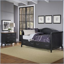 Home Styles French Countryside Daybed and Chest in Oak and Black