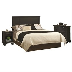 Home Styles Bedford King Headboard Bedroom set in Black