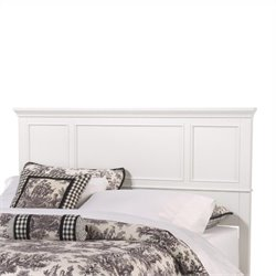 King Panel Headboard in White