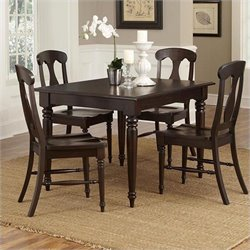 Home Styles Bermuda 5 Piece Dining Set in Espresso