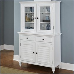 Home Styles Bermuda Buffet and Hutch in Brushed White