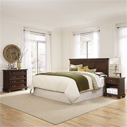 Home Styles Colonial Classic Bedroom Set in Dark Cherry - Queen