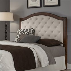 Home Styles Duet Tufted Panel Headboard in Cherry - Queen