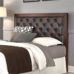 Home Styles Duet Tufted Panel Headboard in Cherry