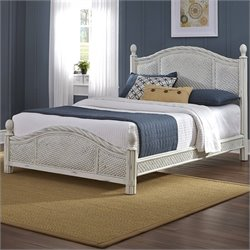 Home Styles Marco Island Bed in Weather-Worn Rubbed White