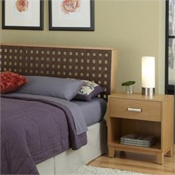 Home Styles The Rave Headboard with Night Stand in Highlighted Blonde