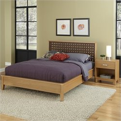 Home Styles The Rave Bed with Night Stand in Highlighted Blonde