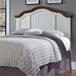 Home Styles French Countryside Headboard in Oak and Rubbed White - Queen