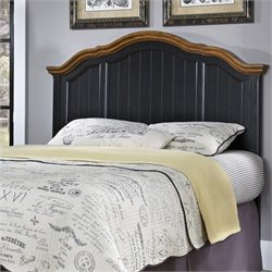 Home Styles French Countryside Panel Headboard in Oak and Black